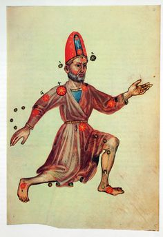 Cepheus from Abd ar-Rahman as-Sufi (903-986), Liber locis stellarum fixarum, 964 15th century Forschungbibliothek Gotha in Germany known as Pergamenthandschrift M II 141 . It is one of several editions of Liber locis stellarum fixarum. It was the subject of study by Gotthard Strohmaier, who in 1984 wrote the essay Die Sterne des Rahhaman Abd ar-as-Sufi , published in the GDR by Gustav Kiepenheuer Verlag  Leipzig und Weimar