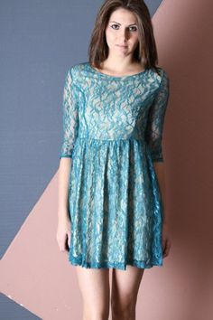 G2 Chic Scoop Neck Lace Pleated A-Line Dress « Dress Adds Everyday