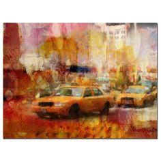 'City Impressions' by Adam Kadmos Painting Print on Canvas