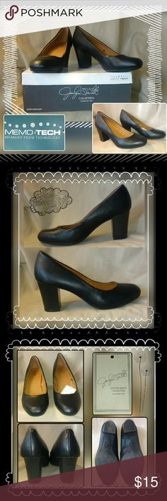 """NWT sz 8.5Wide Jacklyn Smith black pumps New pair of size 8.5 WIDE black patent leather 2.75"""" thick stacked heels. Memory foam technology soles that contour to the shape of your feet. Jacklyn Smith Shoes Heels"""