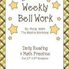 I absolutely LOVE doing bell work with my kids for many reasons. Here are a few of them:  - Gives structure to our morning. They know what they are...