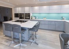 Our simply stunning Nolte handleless kitchen in Arctic White and Corona. Handleless Kitchen, Real Kitchen, Kitchen Images, Decoration, Modern Kitchens, Arctic, Table, Kitchen Inspiration, Furniture