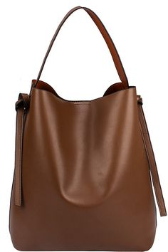 Two Tone Color Hobo, Stone/Brown