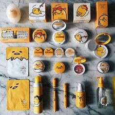 #HolikaHolika X #Gudetama ⚡️⚡️⚡️⭐️⭐️⚡️⚡️⚡️ Lazy&Easy  bb cushion, blush on, lipsticks, dry shampoo, powder and etc ✨