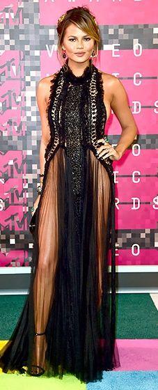 Chrissy Teigen: VMAs 2015 // fringe seems to be a theme tonight, no?