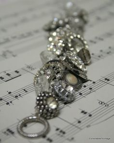 create a bracelet from old vintage buttons....cherished*vintage: Pretty Buttons!
