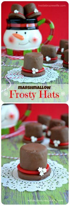 Holiday Recipe ● Marshmallow Santa Hats