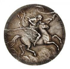 Medalha da Esposizione Internazionale delle Industrie e del Lavoro - Torino 1911. Concedida ao Município de Franca. Diâmetro 60,0 mm
