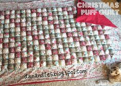 The Olsen Family: Christmas Puff Quilt COMPLETED!