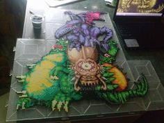 Super Metroid boss statue FULL COLOR!! by tofuAE86