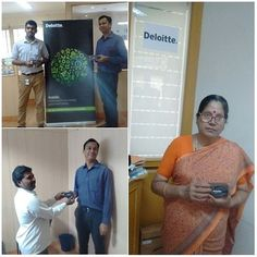 Deloitte India Coimbatore Office greeted with a box of chocolates on the day of Brand Identity Refresh.