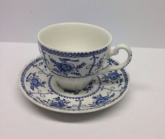 Vintage Johnson Brothers Blue Indies Cup and by PriorMemories, $6.50