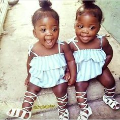 love my chocolate babies Cute Black Babies, Beautiful Black Babies, Cute Twins, Black Kids, Beautiful Children, Cute Babies, Black Twin Babies, Baby Kind, Pretty Baby