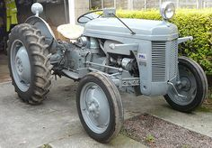 """60 years young early next year and wearing well a 1950 TED 20 Petrol Parraffin (TVO) Grey Ferguson sold by L.O Tractors Coupar Angus to replace the """"horse"""" at that time after the war. Antique Tractors, Antique Cars, Volvo Trucks, Monster Trucks, Horses, Grey, Vehicles, Box, Random Stuff"""