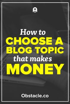 You want to make money with your blog, but you also want to enjoy blogging. So what do you blog about? Let's explore how to find a blog topic that works for you and makes money because making money by blogging is awesome.