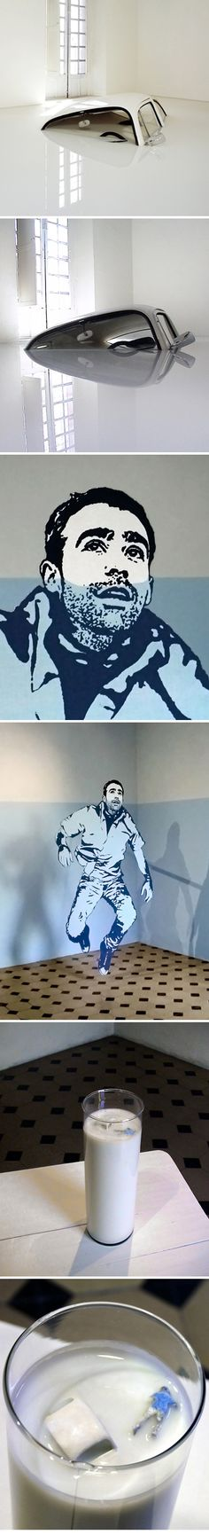 """Art ::: installation piece, titled """"hasta las narices"""" by Ivan Puig :::   The project consists of three parts installed, using the format of the comic."""