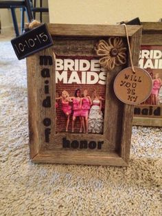 How I asked my bridesmaids to be in wedding! #rustic #diy #wedding @borrowednblue
