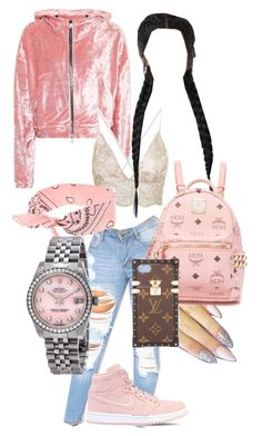 """""""🌸👄👑"""" by makaelahangelah on Polyvore featuring NIKE, WithChic, MCM, Rolex and Louis Vuitton"""