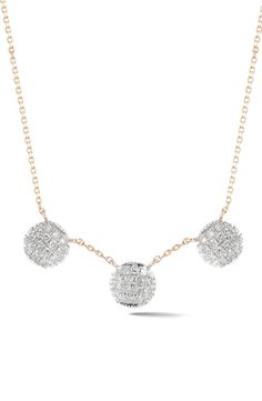 Lauren Joy Three-Disc Diamond Necklace by Dana Rebecca
