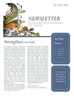 Beautiful Editready Church Newsletters And Newsletter Templates - Church newsletter templates