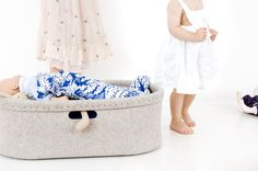 Baby Baskets, Moses Basket, Bassinet, Wool, Bed, Furniture, Home Decor, Portable Baby Bed, Travel Cots
