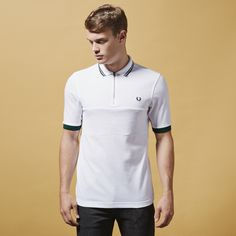Fred Perry x Bradley Wiggins Zip Textured Polo Shirt