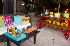 Keep it casual when entertaining and create a relaxed vibe with lighting and decor. #TIKIBrand