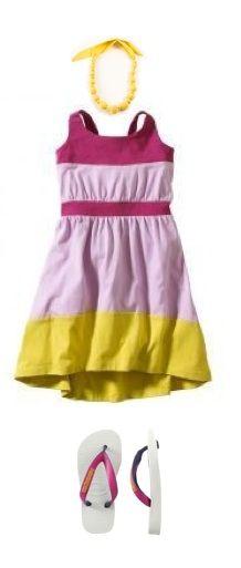 bright dress for summer