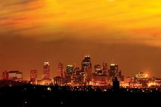 Kansas City Missouri Skyline by Don Wolf Great Places, Places To See, Beautiful Places, Amazing Places, Seattle Skyline, New York Skyline, Kansas City Missouri, Local Photographers, Urban Life