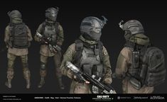 3d Model Character, Character Art, Armor Clothing, Military Art, Call Of Duty, Video Game, Sci Fi, Guns, Army
