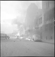 Ilmapommituksen tuhoja Helsingissä Maitokeskus. (1939-11-30 SA-kuva)