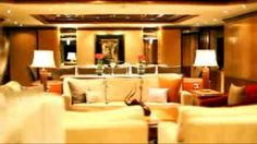 Luxury yacht JAGUAR has 6 guest cabins, allowing accommodation for up to 12 guests overnight. The Master full width stateroom suite with sitting room is well postioned forward on the main deck with a view. It has a king bed with a 2-person settee to starboard and a vanity to port and large closets are either side of the king bed. There are 5 guest staterooms including a very large VIP cabin which is located on the wheelhouse deck to starboard and has a large en-suite bathroom.