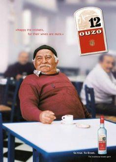 Ouzo 12 Vintage Ads, Vintage Posters, Old Greek, Greek Culture, Greek Isles, Cocktail Drinks, Cocktails, Poster Ads, 80s Kids