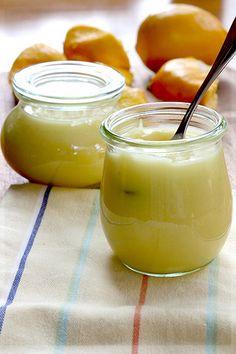 meyer lemon curd in weck jars ... love Weck jars!!  (and bail jars)