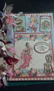 Scrap da Ester: caderno Damas com flores
