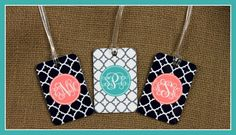 Bag Tags Monogrammed Gifts Gym Bag Duffle Suitcase by ChicMonogram