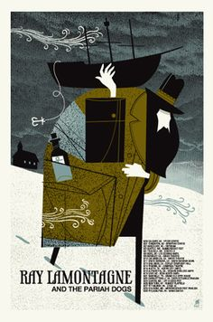 RAY LAMONTAGNE MAN WITH BOAT « Limited Edition Gig Posters « Methane Studios