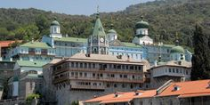 Monastery of Agios Panteleimon in Athos Cyprus Island, The Holy Mountain, Spiritual Enlightenment, World Heritage Sites, Places Ive Been, Explore, Mansions, Macedonia Greece, Visit Greece
