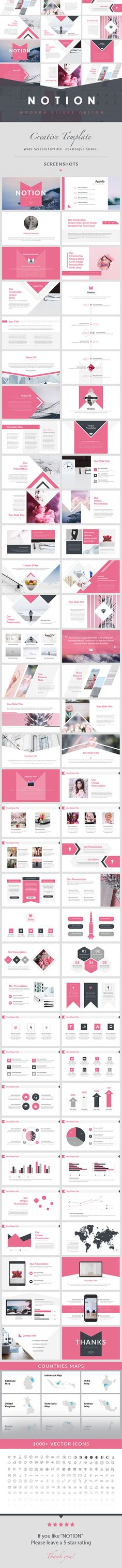 NOTION - Simple Creative PowerPoint Template - Creative PowerPoint Templates