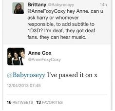 AWW Anne is soo sweet out of all of the 1D mums she would probley have to be my favorite