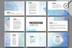 Set of 45 templates for presentation by VectorShop on Creative Market