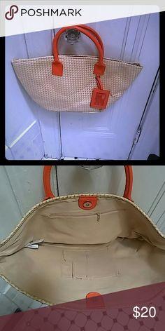 Avon Hawaiian Shores Tote bag Brand new tote handbag brand Avon color: tan & orange Avon Bags Totes