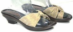 """Donald J Pliner Women's """"Con"""" Gold Leather Thong Wedge Sandals 7 M               #DonaldJPliner #Slides"""