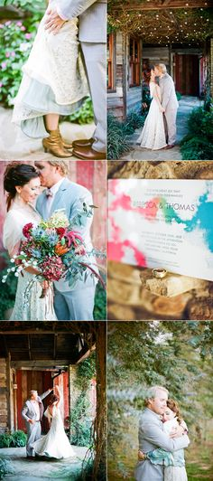 More watercolor invites. I adore this concept. Beautiful, free-flowing and whimsical