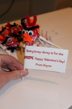 @Catherine Bolt - This would be cute for Jonah's Valentine's...Keeping it Simple: Angry Birds Valentine