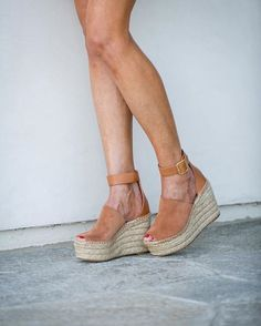 Love wearing wedges as they make your legs look longer