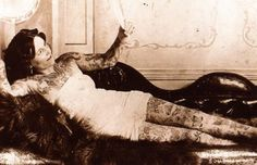 http://tatau.hubpages.com/hub/Victorian-Tattoos  A Victorian woman ahead of her time. Got to love her courage in more ways than one.