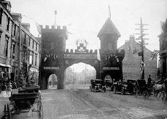 Triumphal arch in St. John's, Newfoundland decorated to honour the Prince of Wales, August 1919 / Arc de triomphe décoré en l'honneur du prince de Galles, à St. John's, Terre-Neuve, août 1919 | by BiblioArchives / LibraryArchives