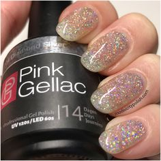 Diamond Silver from Disco Glam Collection by Pink Gellac - Model City Polish