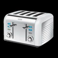 Breville Opula 4 Slice St Steel & Opal White Toaster (VTT334)